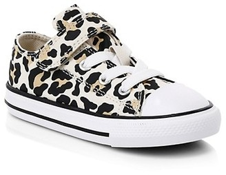 Converse Baby & Little Girl's Chuck Taylor All Star 1V Leopard-Print Sneakers