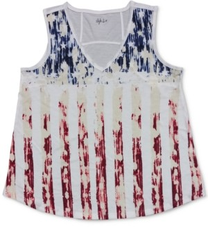 Style&Co. Style & Co Flag Graphic Tank Top, Created for Macy's