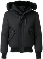 Mackage bomber jacket with contrast racoon fur hood