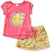 Sweet Heart Rose Little/Big Girls 4-12 2-Piece Smiley-Face Print Sleep Shirt & Shorts Set