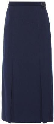 Prada Pleated jersey skirt