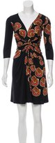 Issa Abstract Print Silk Dress