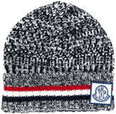 Moncler Gamme Bleu signature knitted beanie hat