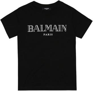 Balmain Kids Logo cotton-jersey T-shirt
