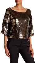 Tracy Reese Dolman Sleeve Sequin Shirt