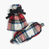 J.Crew Eye mask in festive plaid