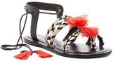 Bernardo Mirage Woven Tassel Flat Sandal