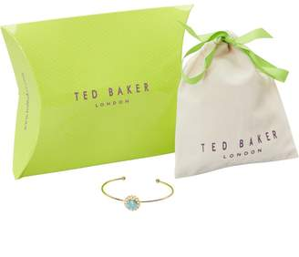 Ted Baker Womens Split Cuff Pacific Opal/Pearl Gold/Gold