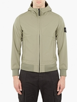Stone Island Green Soft Shell-R Hooded Jacket