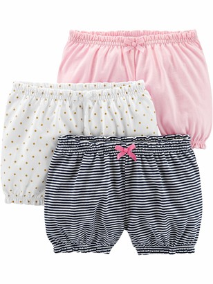 Simple Joys by Carter's 3-pack Bloomer Short White/Dot/Pink 6-9 Months