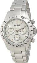 A Line a_line Women's 20050-SL Amore Chronograph Silver Tone Aluminum Watch