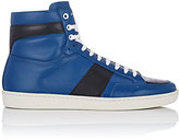 Saint Laurent Men's SL/10H Leather High-Top Sneakers-BLUE, BLACK