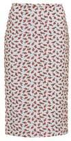 Rochas Floral brocade skirt