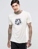 Pretty Green T-Shirt With Dove Print In White