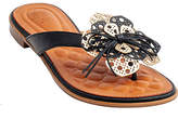 Gc Shoes GC Shoes Womens Vida Flat Sandals, 6 Medium, Black