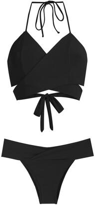 BRIGITTE Mary wrap style bikini set