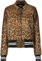 Amiri leopard bomber jacket
