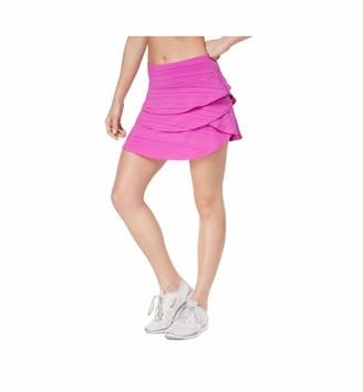 Ideology Womens Pink Short Ruffled Skirt Plus Size: 3X