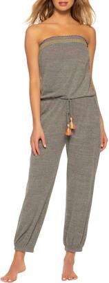 Soluna Malibu Strapless Drawstring Waist Jumpsuit