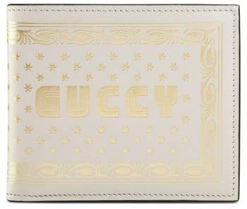 Gucci Guccy Print Leather Wallet