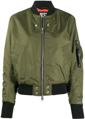 Whipstitch-Trimmed Bomber Jacket