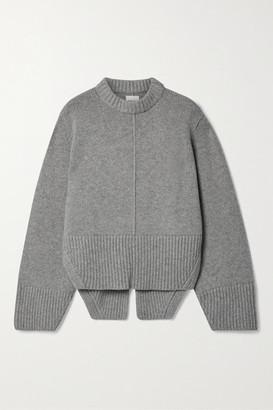 KHAITE Virginia Cashmere Sweater - Gray