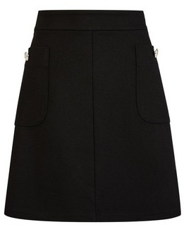 Dorothy Perkins Womens Black Button Pocket Mini Skirt, Black