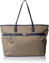 Tommy Hilfiger Helen Monogram Jacquard Tote Women Blue Tote