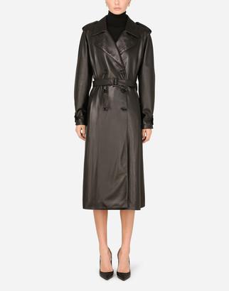Dolce & Gabbana Plonge Lambskin Trench Coat