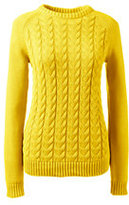 Classic Women's Drifter Cable Sweater-Sunny Yellow