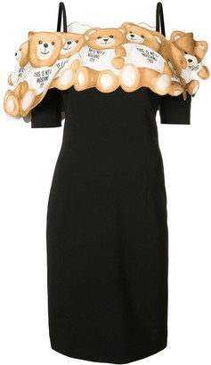 Moschino Teddy off the shoulder dress