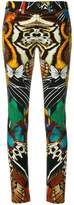 Roberto Cavalli butterfly print trousers