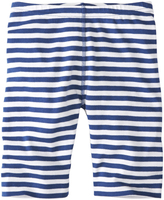 Hanna Andersson Deep Blue Sea & White Stripey Bike Shorts