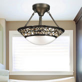 Dale Tiffany Dale TiffanyTM Cyprus Oaks Semi Flush Mount