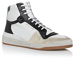 Saint Laurent Men's Color Block High Top Sneakers