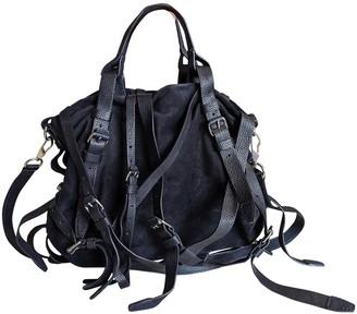Alexander Wang Navy Suede Handbags