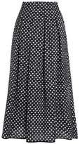 Oscar de la Renta Pleated Jacquard Maxi Skirt