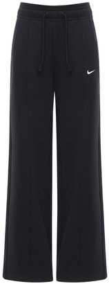 Nike Cotton Blend Fleece Wide Leg Sweatpants