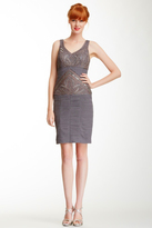 Sue Wong N3368 Ruched V-neck Column Dress