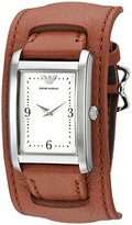 Emporio Armani Women's AR7439 Fashion Brown Leather Watch