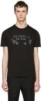 DSQUARED2 Black '24-7 Star' Logo T-Shirt