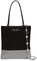 Miu Miu Starlight Silk Blend Satin Shoulder Bag