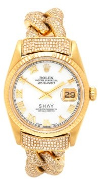 Shay Vintage Rolex Datejust Diamond & 18kt Gold Watch - Yellow Gold
