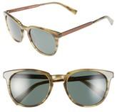 Ted Baker Men's 53Mm Round Sunglasses - Green/ Horn
