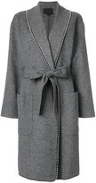 Alexander Wang ball lined hem coat - women - Polyester/Viscose/Wool - S