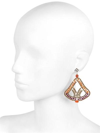 Ziio Couture Orange Earrings