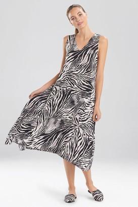 Natori Zebra - Viscose Voile Gown
