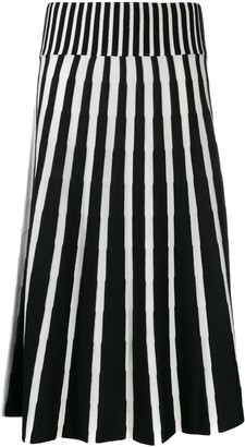 MSGM knitted midi skirt