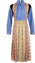 Prada Contrast Print Long Sleeve Dress