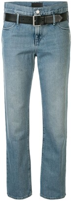 RtA belted straight leg jeans